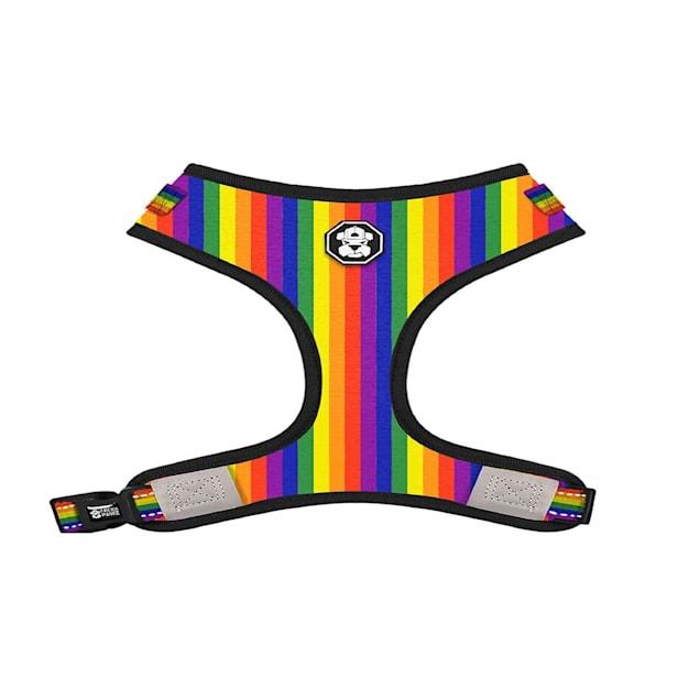 Fresh Pawz The Pride Flag Adjustable Mesh Dog Harness, X-Small - Carousel image #1