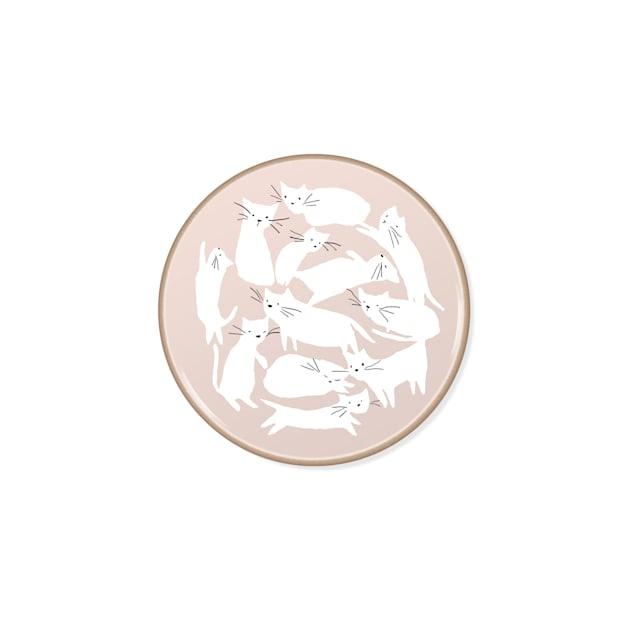 PetShop by Fringe Studio Whisker Cat Stoneware Coaster - Carousel image #1