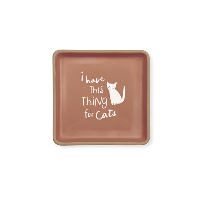 PetShop by Fringe Studio Thing for Cats Stoneware Tray - Carousel image #1