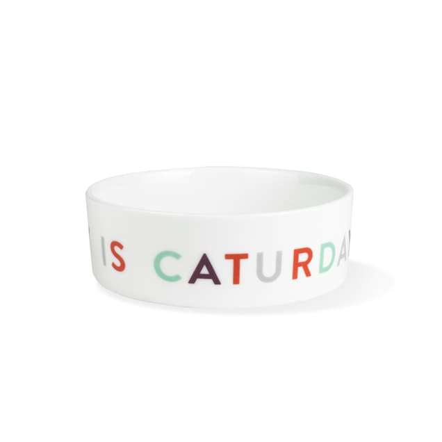 PetShop by Fringe Studio Graphic Caturday Small Pet Bowl - Carousel image #1