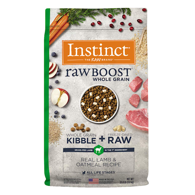 Instinct Raw Boost Whole Grain Real Lamb & Oatmeal Recipe Dry Dog Food with Freeze-Dried Raw Pieces, 20 lbs. - Carousel image #1