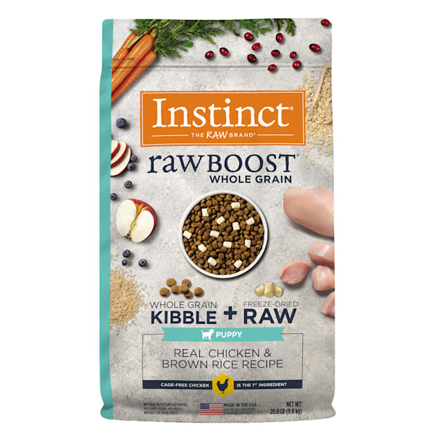 Instinct Raw Boost Puppy Whole Grain Real Chicken & Brown Rice Recipe Dry Food with Freeze-Dried Raw Pieces, 20 lbs. - Carousel image #1