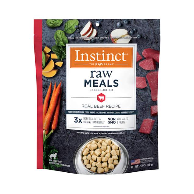 Instinct Raw Freeze-Dried Meals Grain-Free Real Beef Recipe Dog Food, 25 oz. - Carousel image #1