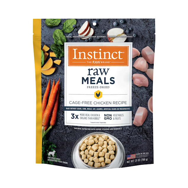Instinct Raw Freeze-Dried Meals Grain-Free Cage-Free Chicken Recipe Dog Food, 25 oz. - Carousel image #1