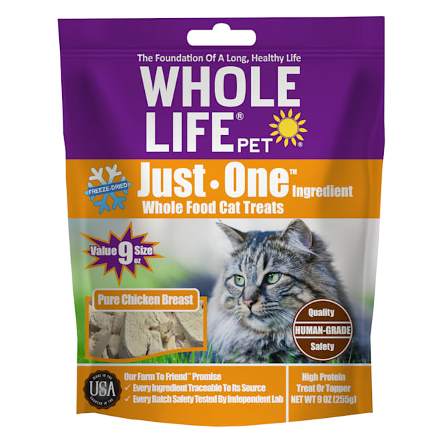 Whole Life Pet Just One Freeze Dried Chicken Cat Treats, 9 oz. - Carousel image #1
