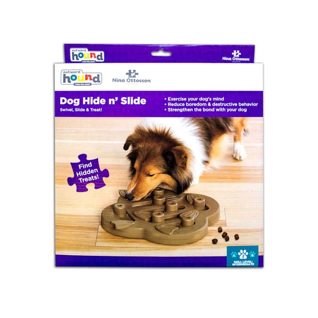 Outward Hound Tan Hide N' Slide Puzzle Dog Toy, Large - Carousel image #1