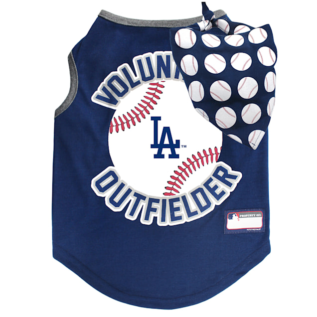 Pets First Los Angeles Dodgers Tank Top With Bandana for Dogs, X-Small - Carousel image #1
