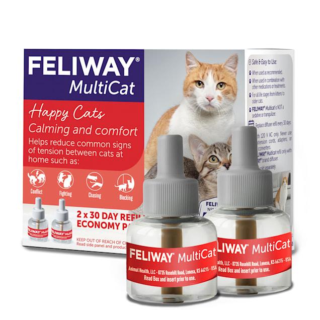Feliway Multicat 30 Day Diffuser Refill, Pack of 2 - Carousel image #1