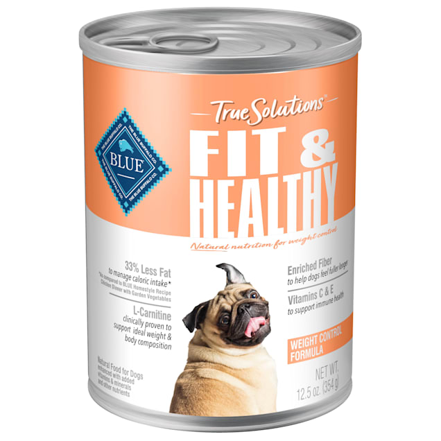 Blue Buffalo True Solutions Fit & Healthy Natural Weight Control Chicken Flavor Adult Wet Dog Food, 12.5 oz., Case of 12 - Carousel image #1