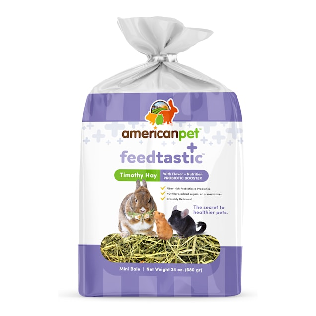 American Pet Feedtastic Timothy Hay with Prebiotic Booster Dry Food, 24 oz. - Carousel image #1