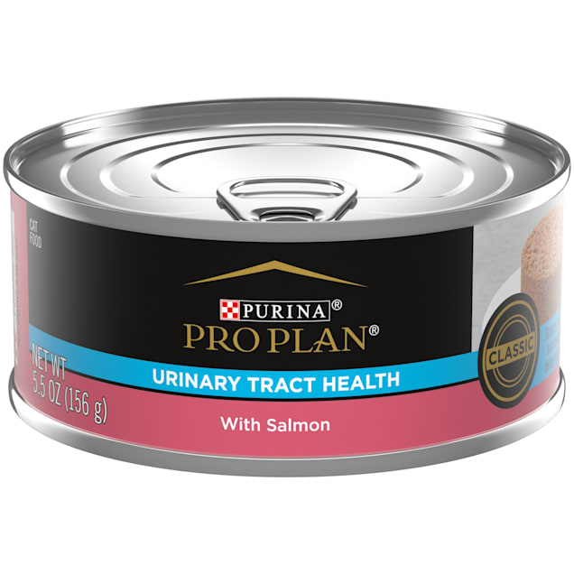 Purina Pro Plan Focus Urinary Tract Health Formula with Salmon Adult Wet Cat Food, 5.5 oz., Case of 24 - Carousel image #1