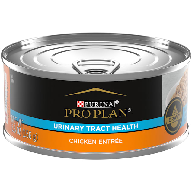 Purina Pro Plan Focus Urinary Tract Health Formula Chicken Entree in Gravy Adult Wet Cat Food, 5.5 oz., Case of 24 - Carousel image #1