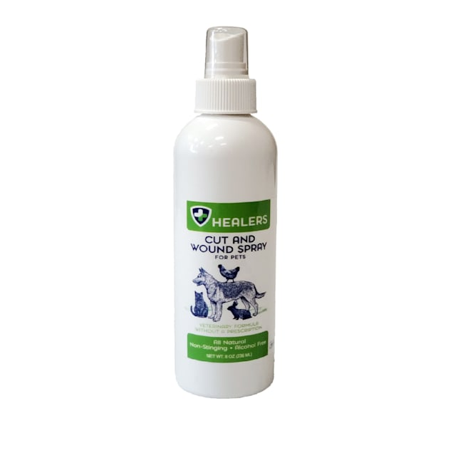 HEALERS Natural Cut and Wound Spray for Pets, 8 fl. oz. - Carousel image #1
