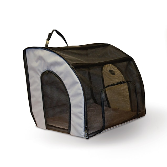 """K&H Travel Safety Gray Pet Carrier, 24"""" L X 19"""" W X 17"""" H - Carousel image #1"""