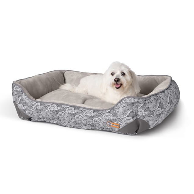 "K&H Self-Warming Lounge Sleeper Gray Paisley Dog Bed, 24"" L X 30"" W - Carousel image #1"