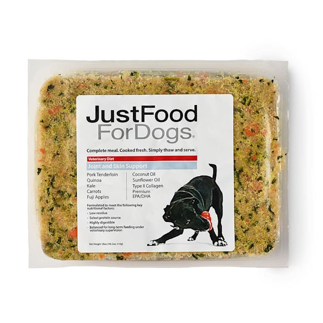 JustFoodForDogs Vet Support Diets Joint & Skin Frozen Dog Food, 18 oz. - Carousel image #1