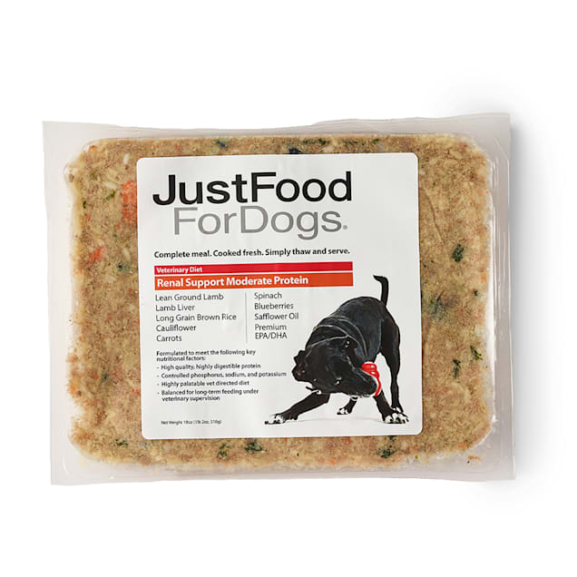 JustFoodForDogs Vet Support Diets Renal Support, Moderate Protein Frozen Dog Food, 18 oz. - Carousel image #1
