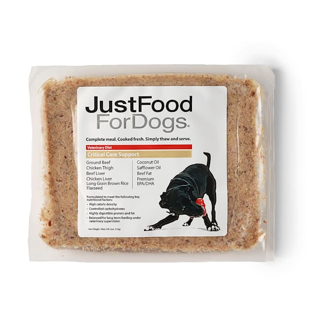 JustFoodForDogs Vet Support Diets Critical Care & Neoplasia Frozen Dog Food, 18 oz. - Carousel image #1