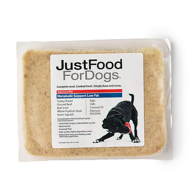 JustFoodForDogs Vet Support Diets Metabolic Support, Low Fat Frozen Dog Food, 18 oz. - Carousel image #1