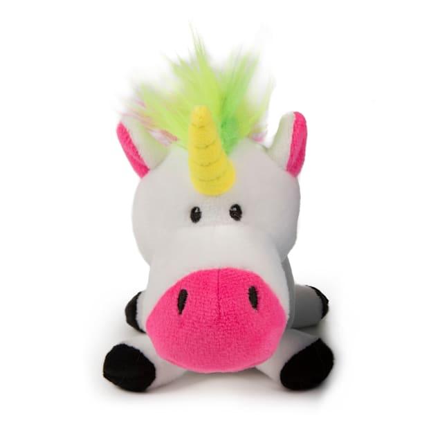 goDog White Unicorns Guard Plush Dog Toy, Small - Carousel image #1