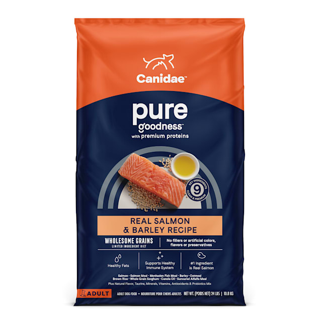 Canidae Pure with Grains Real Salmon & Barley Recipe Adult Dry Puppy Food, 24 lbs. - Carousel image #1