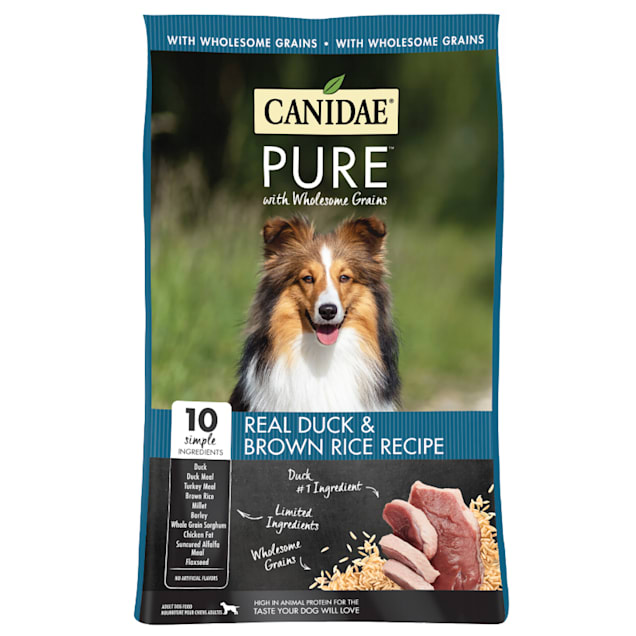 CANIDAE PURE Real Duck & Brown Rice Recipe Dry Dog Food, 24 lbs. - Carousel image #1