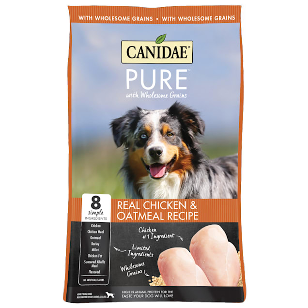 CANIDAE PURE Real Chicken & Oatmeal Recipe Dry Dog Food, 24 lbs. - Carousel image #1