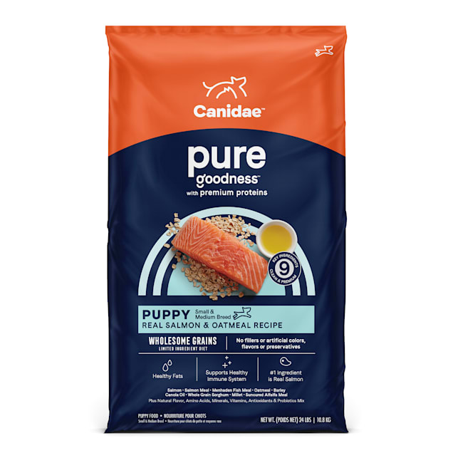 Canidae Pure Puppy Real Salmon & Oatmeal Recipe Dry Food, 24 lbs. - Carousel image #1