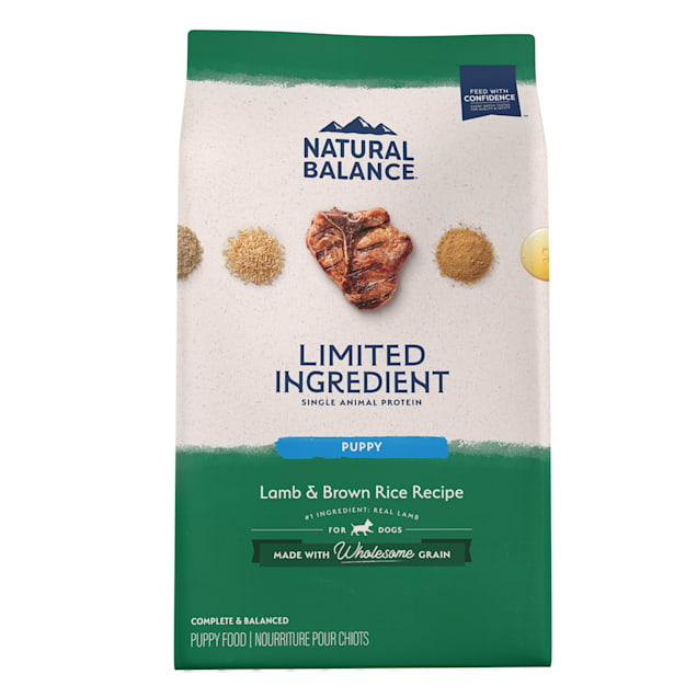 Natural Balance L.I.D. Limited Ingredient Diets Lamb & Brown Rice Formula Dry Puppy Food, 24 lbs. - Carousel image #1
