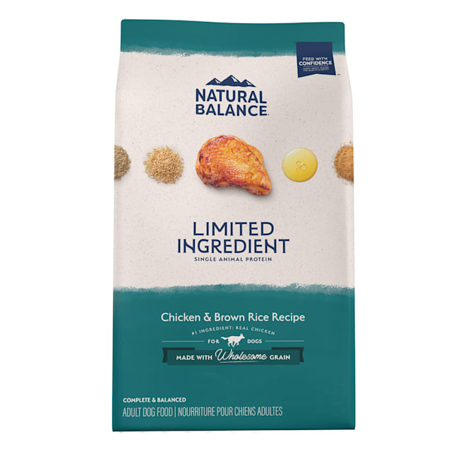 Natural Balance L.I.D. Limited Ingredient Diets Chicken & Brown Rice Formula Dry Dog Food, 4 lbs. - Carousel image #1