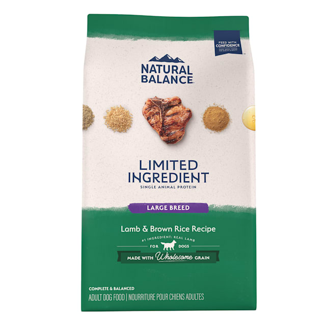Natural Balance L.I.D. Limited Ingredient Diets Lamb & Brown Rice Large Breed Formula Dry Dog Food, 26 lbs. - Carousel image #1