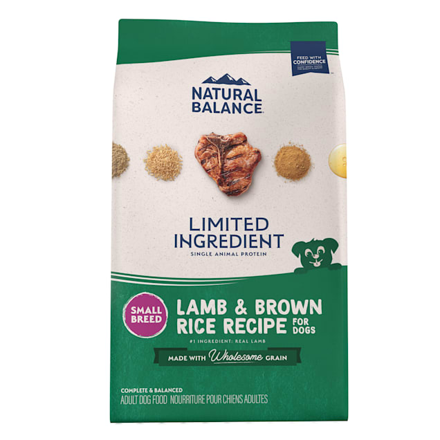 Natural Balance L.I.D. Limited Ingredient Diets Lamb & Brown Rice Small Breed Formula Dry Dog Food, 12 lbs. - Carousel image #1