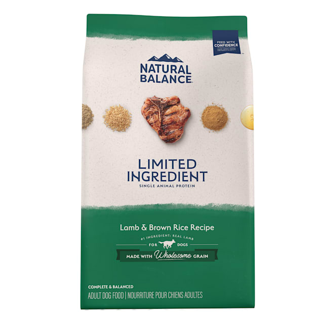 Natural Balance L.I.D. Limited Ingredient Diets Lamb & Brown Rice Formula Dry Dog Food, 26 lbs. - Carousel image #1
