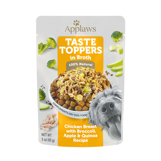 Applaws Taste Toppers Chicken, Broccoli, Apple & Quinoa Broth Wet Dog Food, 3 oz. - Carousel image #1