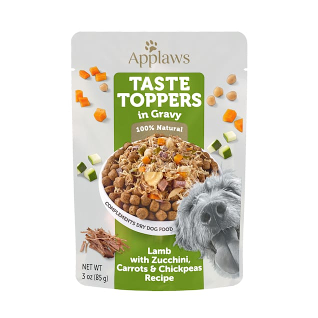 Applaws Taste Toppers Lamb, Carrot, Courgette & Chick Peas in Gravy Wet Dog Food, 3 oz. - Carousel image #1