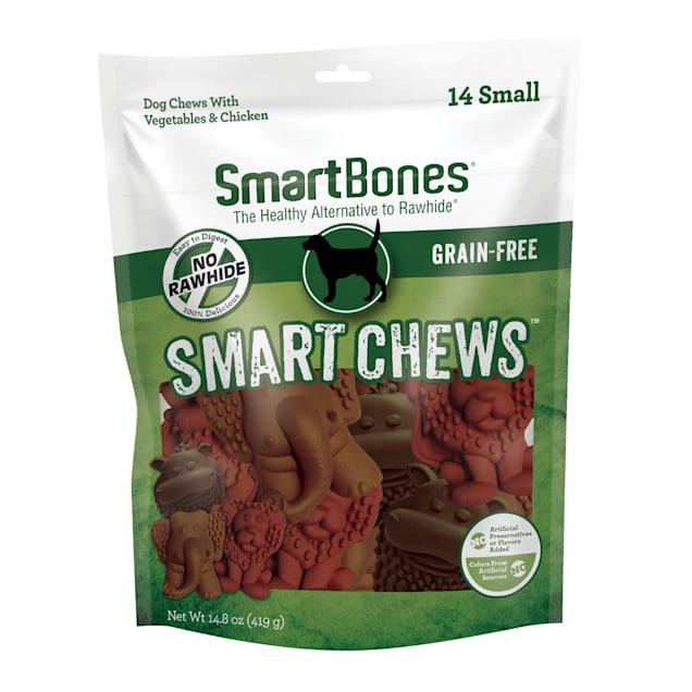 SmartBones Small Smart Chews Vegetable & Chicken Grain Free Dog Chews, 14.8 oz., Count of 14 - Carousel image #1