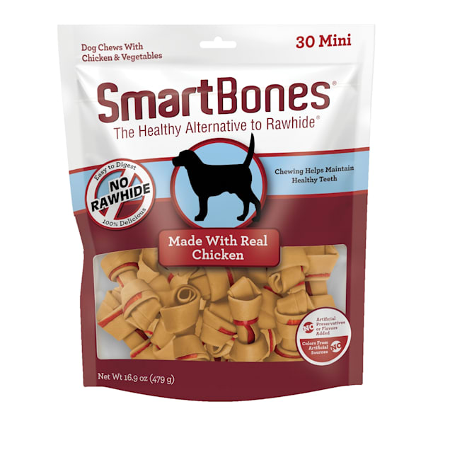 SmartBones Mini Bones Vegetable & Chicken No-Rawhide Dog Chews, 16.9 oz., Count of 30 - Carousel image #1