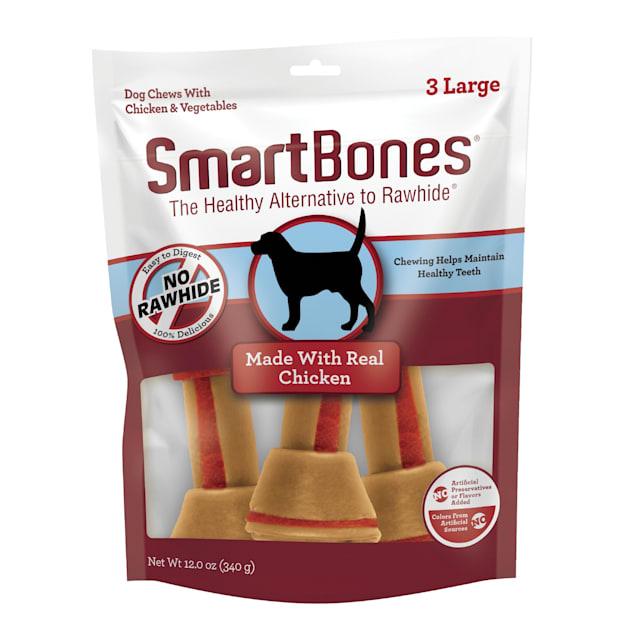 SmartBones Large Bones Vegetable & Chicken No-Rawhide Dog Chews, 12 oz., Count of 3 - Carousel image #1