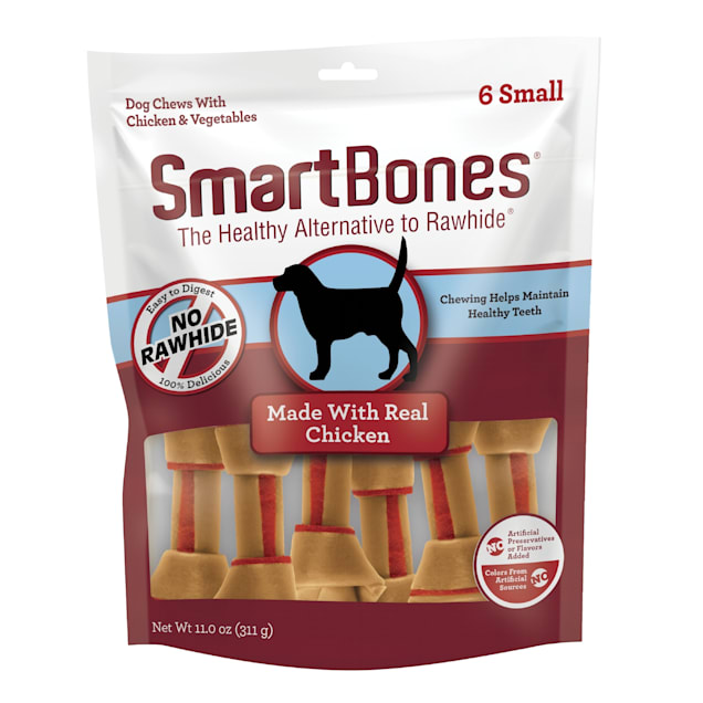 SmartBones Small Bones Vegetable & Chicken No-Rawhide Dog Chews, 11 oz., Count of 6 - Carousel image #1