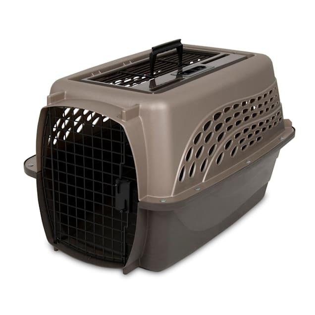"Petmate Tan 2 Door Top Load Dog Kennel, 24.05"" L X 16.76"" W X 14.5"" H - Carousel image #1"