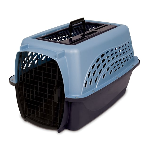 """Petmate Blue 2 Door Top Load Dog Kennel, 24.05"""" L X 16.76"""" W X 14.5"""" H - Carousel image #1"""