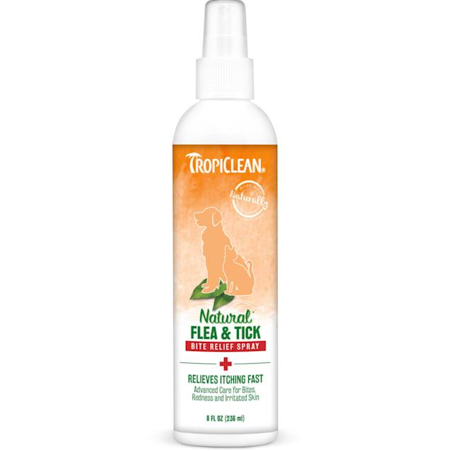 TropiClean Natural Flea & Tick Bite Relief Dog Spray, 8 fl. oz. - Carousel image #1