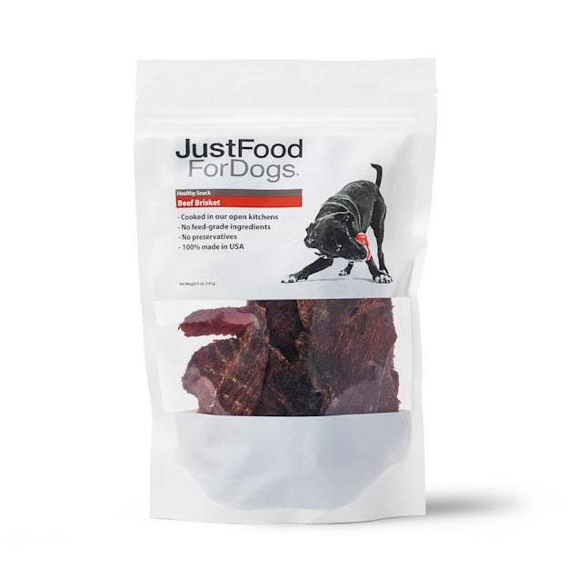 JustFoodforDogs Healthy Snack Beef Brisket Dog Treats, 5 oz. - Carousel image #1