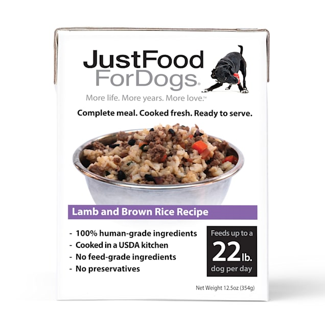 JustFoodForDogs Pantry Fresh Lamb and Brown Rice Wet Dog Food, 12.5 oz., Case of 12 - Carousel image #1