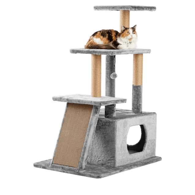 """EveryYay Lookout Loft 4-Level Cat Tree for Big & Senior Cats, 34"""" L X 24"""" W X 46"""" H - Carousel image #1"""