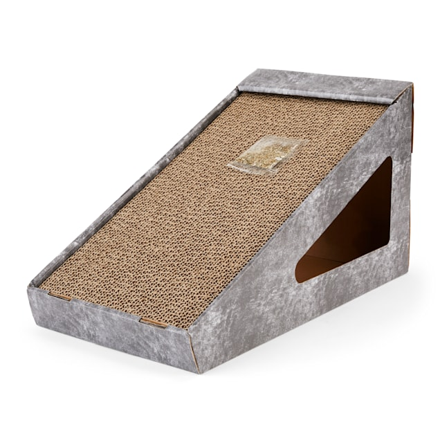 "EveryYay Scratchin' the Surface Cardboard Ramp Cat Scratcher in Various Styles, 17.5"" L X 9.5"" W X 9.5"" H - Carousel image #1"