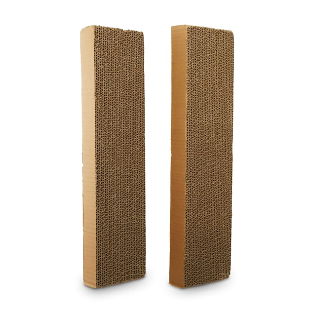"""EveryYay Scratchin' the Surface Single-Wide Cardboard Refills for Cat Scratchers, 18.5"""" L X 4.5"""" W X 1.75"""" H, Pack of 2 - Carousel image #1"""