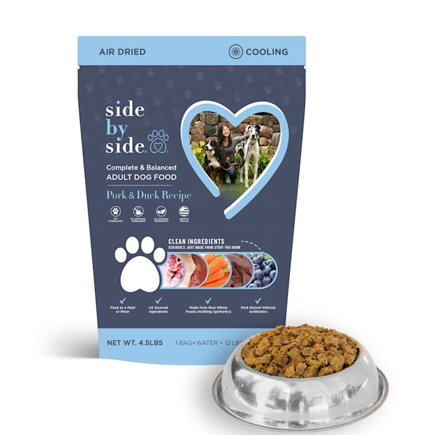 Side by Side Cooling Air Dried Pork & Duck Recipe Dry Dog Food, 4.5 lbs. - Carousel image #1