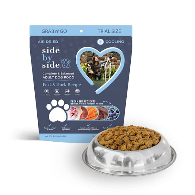 Side by Side Cooling Air Dried Grab N Go, Pork & Duck Recipe Dry Dog Food, 3.27 oz. - Carousel image #1