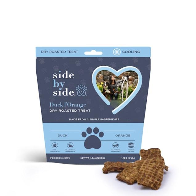Side by Side Cooling Duck & Orange Recipe Dog Treats, 4.5 oz. - Carousel image #1